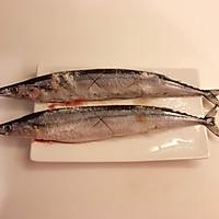 日式盐烤秋刀鱼的做法图解3