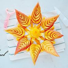 苹果橙子水果拼盘
