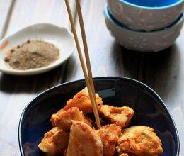长肉肉的零食——椒盐白灵菇的做法