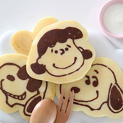 萌翻!史努比香软牛奶松饼,宝宝最佳营养早餐