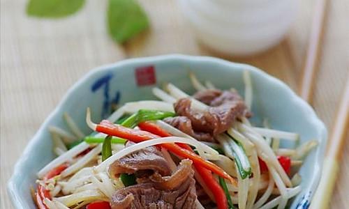 缓解春困的最佳食材 —— 助我们保持旺盛精力的银针牛肉片的做法