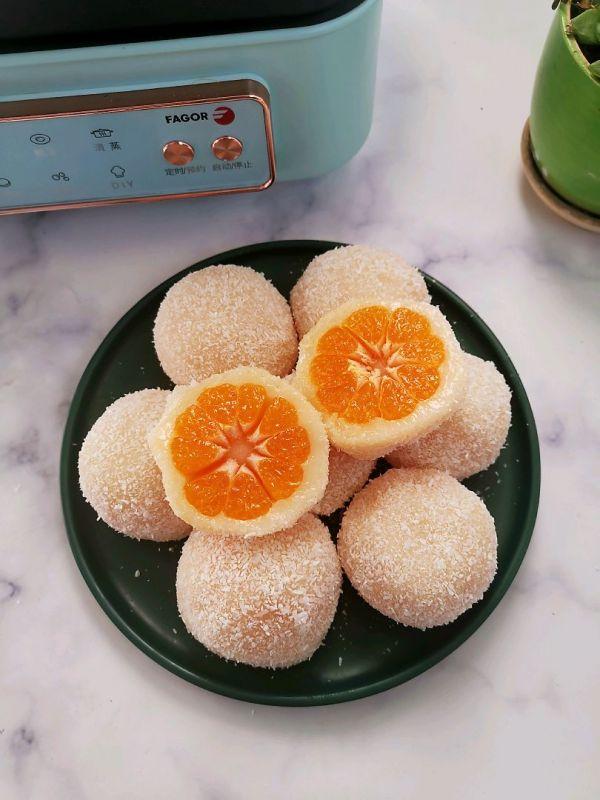 糯叽叽好吃到爆的砂糖橘水果大福的做法