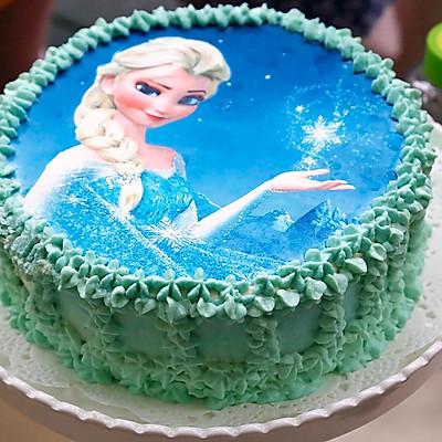 冰雪奇缘公主生日蛋糕