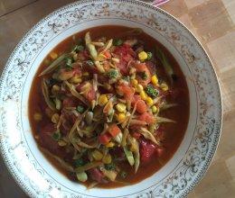 西红柿炒豆角的做法