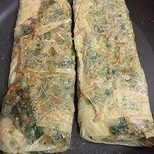 豆腐皮煎菲菜卷