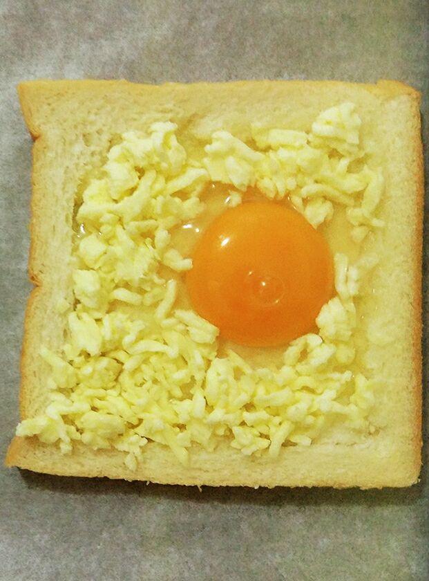 0失败奶香芝士鸡蛋烤土司的做法图解5