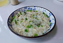 葱花蛋油鸡丝粥的做法