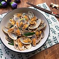 姜葱炒花甲(路飞酱的海鲜宴)的做法图解9