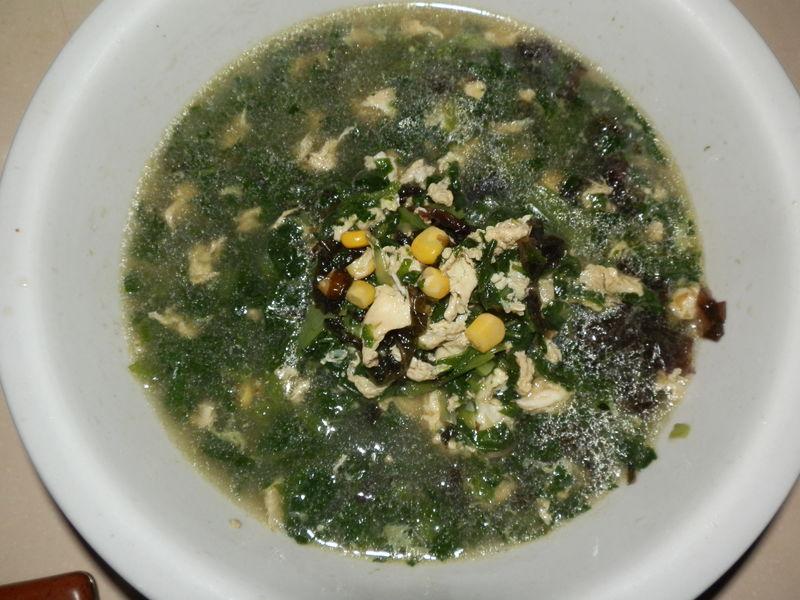 小白菜玉米紫菜汤图片