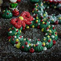 圣诞花环蛋白糖