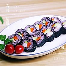 桃红大虾寿司卷