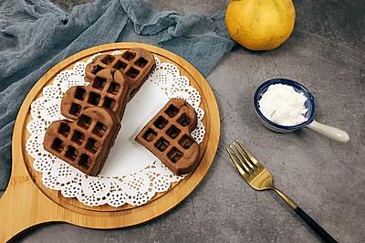 精致甜蜜早餐----松软香甜的可可华夫饼