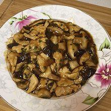 蚝油双菇炒肉片