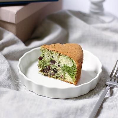 大理石抹茶红豆蛋糕