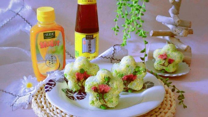 豌豆汁心饭团 太太乐鲜鸡汁蒸鸡原汤