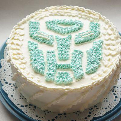 变形金钢生日蛋糕