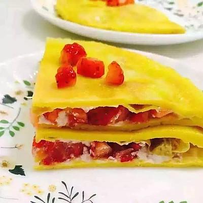 鸡蛋草莓饼