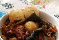 开心卤蛋+腐竹海带烧排骨的做法