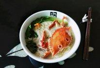 花蟹空心挂面汤的做法