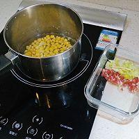 減肥餐 玉米咸麦片的做法图解2