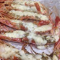 蒜蓉芝士两吃烤红虾的做法图解6