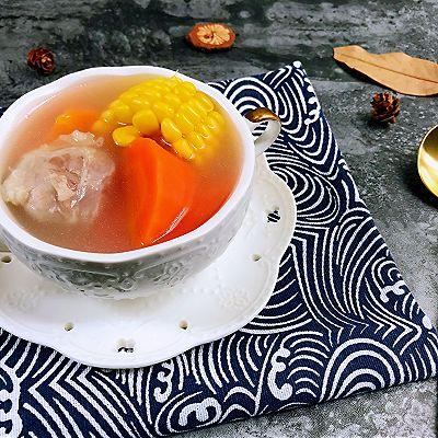 清淡不油腻——玉米胡萝卜薏仁猪展汤的做法 步骤15