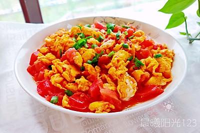 简单省事的番茄炒鸡蛋
