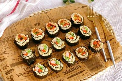 减脂吃❗关晓彤同款低卡无米寿司❗超饱腹❗