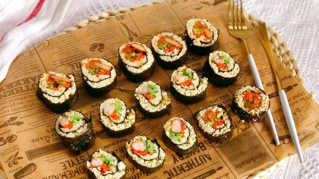 减脂吃❗关晓彤同款低卡无米寿司❗超饱腹❗的做法