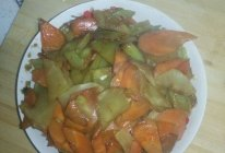 莴笋炒胡萝卜的做法