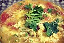 番茄鸡蛋汤(蘑菇+蒜黄)的做法