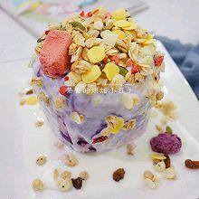#豆果10周年生日快乐#【紫薯山药酸奶蛋糕】|健脾养胃
