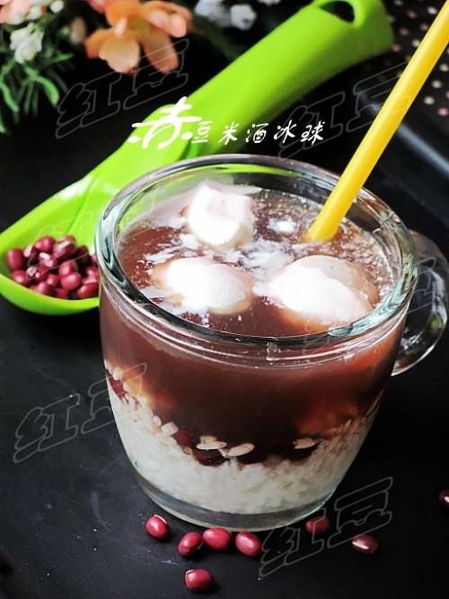 赤豆米酒冰球的做法