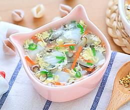 彩蔬鱼羹的做法