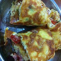 蕃茄肉松厚蛋烧的做法图解5