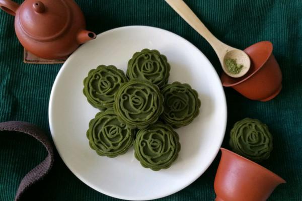 抹茶绿豆糕(植物油版)的做法