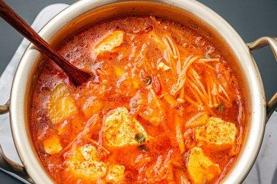 韩剧里的被馋的咽口水的嫩豆腐汤,自己在家做