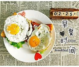 5分钟快手早餐煎蛋吐司的做法