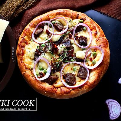 香辣牛排披萨