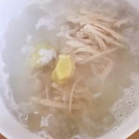 鸡丝粥的做法图解5