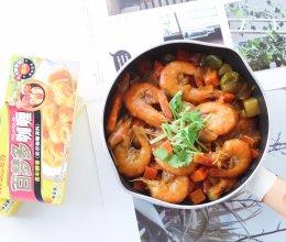 #百梦多圆梦季#咖喱虾的做法