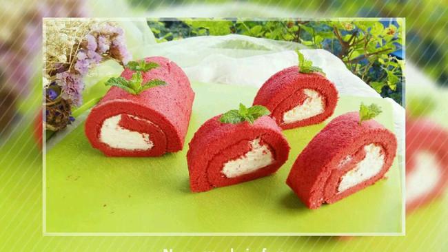 李孃孃爱厨房之一一红丝绒奶油蛋糕卷的做法