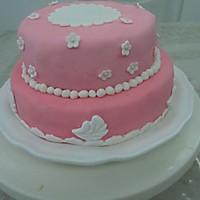 HOLLETKITY粉色双层翻糖蛋糕#九阳烘焙剧场#的做法图解49