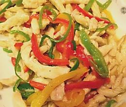 三椒小鸡丝儿【白领快手菜】的做法