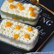 抹茶芒果盒子蛋糕