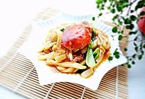 香喷喷的螃蟹年糕#德国mljl爱心菜#的做法