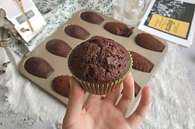 植物油版巧克力可可玛德琳 ukoeo 高比克风炉制作