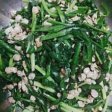 韭菜炒蛤肉
