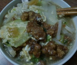 氽肉汤面(安徽特色美食)的做法