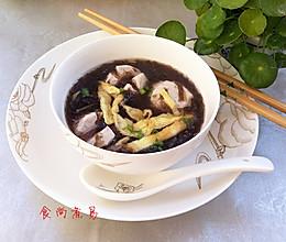 丸子紫菜汤--冬季暖身的做法